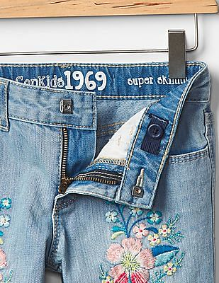 GAP Girls Blue 1969 Super Skinny Skimmer Jeans