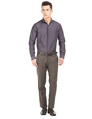 Excalibur Textured Regular Fit Trousers