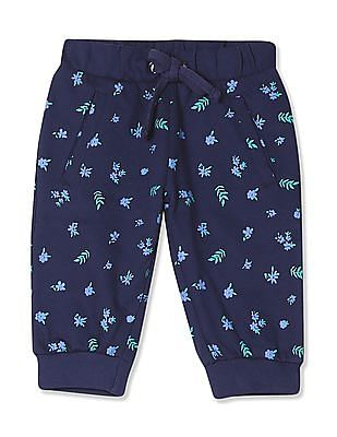 Cherokee Girls Floral Print Cropped Joggers