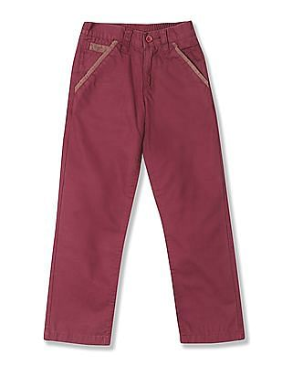 U.S. Polo Assn. Kids Boys Mid Rise Twill Trousers