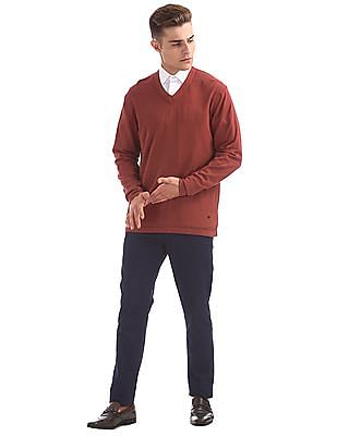 Arrow Newyork V-Neck Cotton Sweater