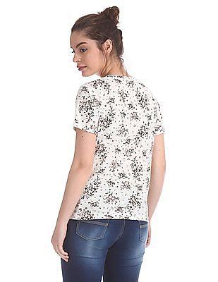 SUGR Round Neck Printed T-Shirt