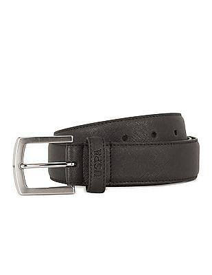 U.S. Polo Assn. Saffiano Texture Leather Belt