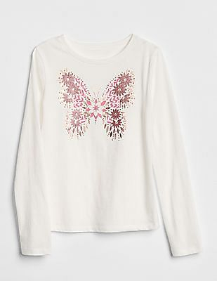 GAP Girls Graphic Long Sleeve T-Shirt