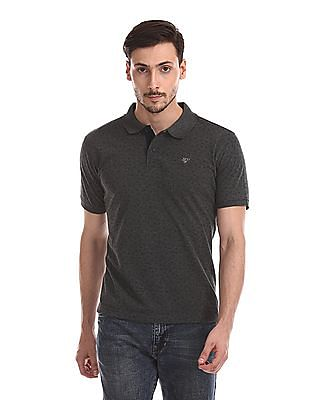 Ruggers Short Sleeve Contrast Print Polo Shirt