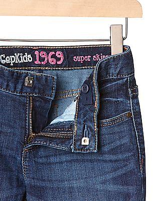 GAP Girls Blue 1969 Super Skinny Jeans