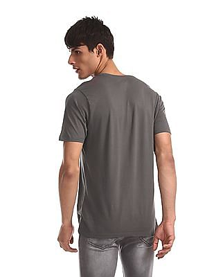Colt Grey Crew Neck Graphic T-Shirt