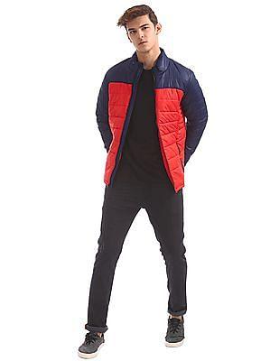 Flying Machine Long Sleeve Colour Block Jacket
