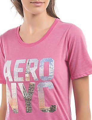 Aeropostale Embellished Round Neck T-Shirt