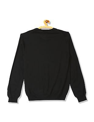 Gant Solid Merino Wool V-Neck Sweater