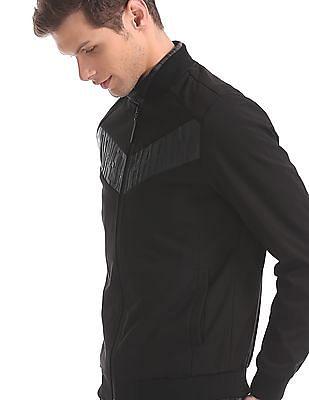 Ed Hardy Black Brand Embossed Bomber Jacket