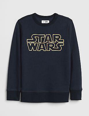 GAP Blue Boys Star Wars™ Crewneck Sweatshirt