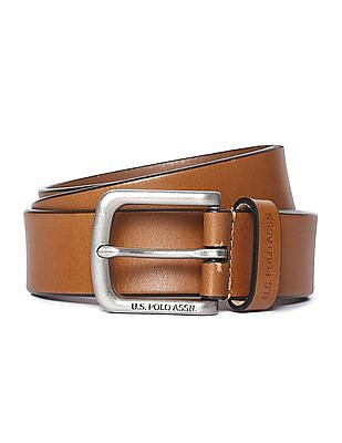 U.S. Polo Assn. Grained Leather Belt