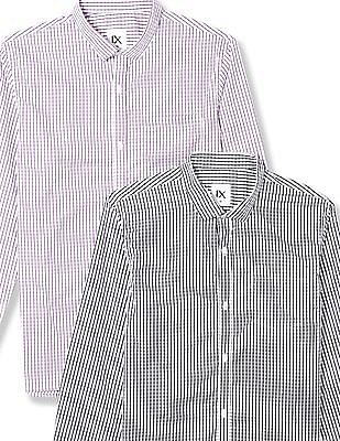 Excalibur Long Sleeve Checked Shirt - Pack Of 2
