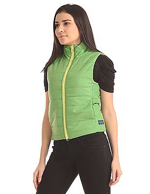 Flying Machine Women High Neck Reversible Jacket