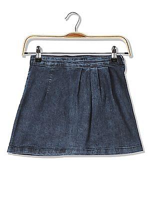Cherokee Girls Washed Denim Skirt