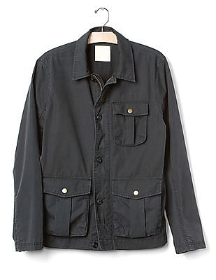 GAP Men Black Military Jacket
