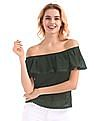 SUGR Lace Trim Off Shoulder Top