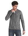 Cherokee Grey Slim Fit Patterned Henley T-Shirt