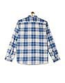 Cherokee Blue Button Down Collar Check Shirt