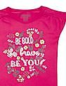 Cherokee Girls Embellished Cotton T-Shirt