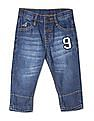 Donuts Blue Boys Mid Rise Washed Jeans