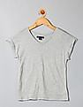 GAP Girls Grey Seam V-Neck Tee