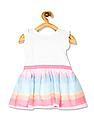 The Children's Place Multi Colour Toddler Girl Sleeveless Embellished Heart Knit-To-Woven Dress