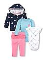The Children's Place Baby Apple Print Hoodie, ABC Bodysuits And Leggings 5-Piece Playwear Set