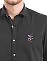 Ed Hardy Pin Dot Print Slim Fit Shirt