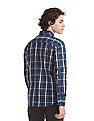 Flying Machine Blue Standard Fit Check Shirt