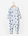 GAP Baby Blue Organic Blueberry Footed One-Piece