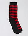 GAP Men Red Pattern Crew Socks