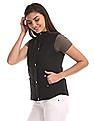 U.S. Polo Assn. Women Black Sleeveless Quilted Jacket