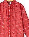 U.S. Polo Assn. Kids Girls Long Sleeve Star Print Shirt