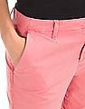 GAP Women Pink Girlfriend Twill Stripe Chino