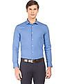 USPA Tailored French Placket Printed Shirt