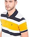 Izod Striped Cotton Polo Shirt