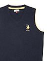 U.S. Polo Assn. Kids Boys V-Neck Lambswool Sweater