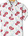 U.S. Polo Assn. Kids Girls Short Sleeve Printed Polo Shirt