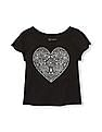 The Children's Place Toddler Girl Matchables Short Slit Sleeve Embellished Graphic Top