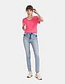 GAP Pink Round Neck Solid T-Shirt