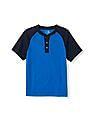 The Children's Place Boys Short Raglan Sleeve Henley