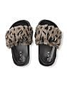 The Children's Place Girls Faux Fur Slides