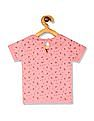 Donuts Pink Girls Floral Print Knit Top