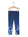 GAP Toddler Girl Blue Embellished Cosiest Leggings