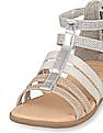 The Children's Place Toddler Girl Metallic Gladiator Zahara Sandals