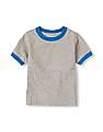 The Children's Place Toddler Boy Grey Short Sleeve Ringer Tee