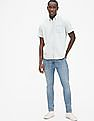 GAP Blue Wearlight Denim Short Sleeve Shirt
