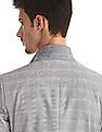 Arrow Newyork Grey Patterned Check Three Piece Suit